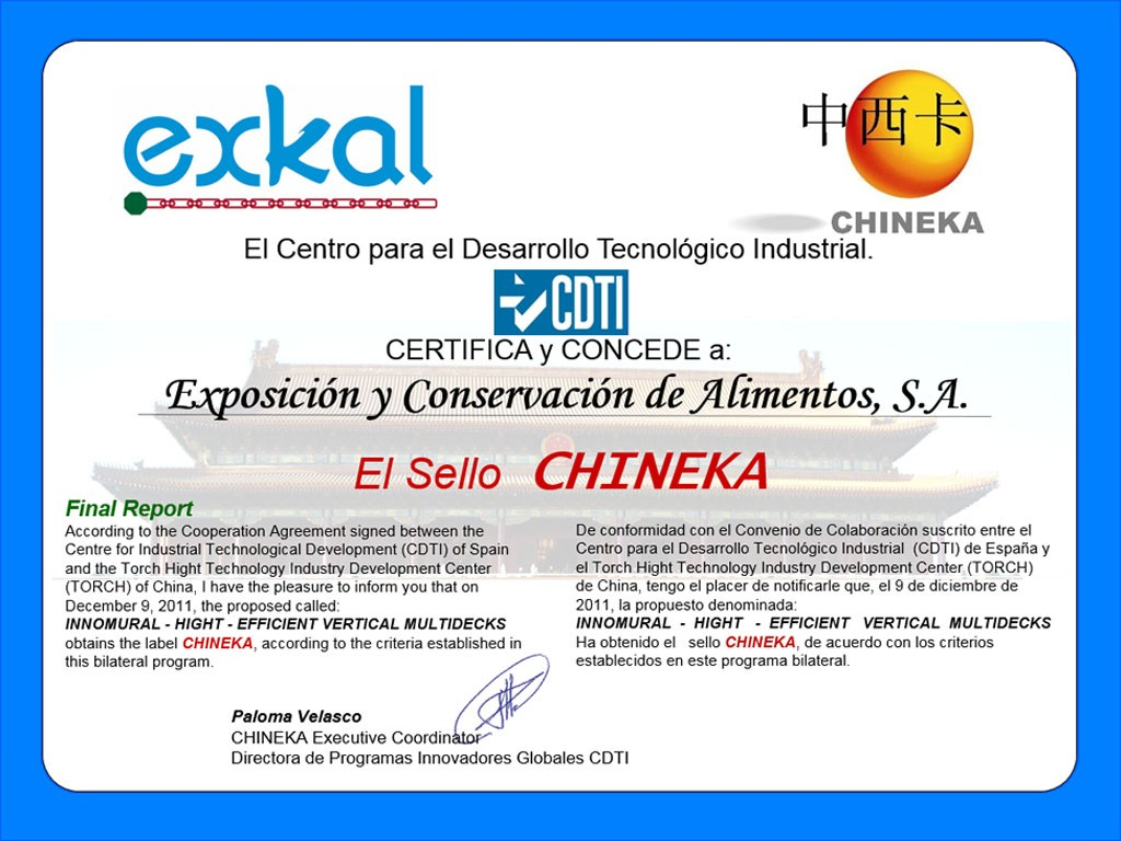 certificado chineka